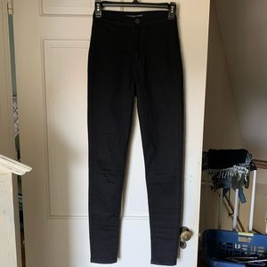 Black Super High-Waisted Skinny Jeans